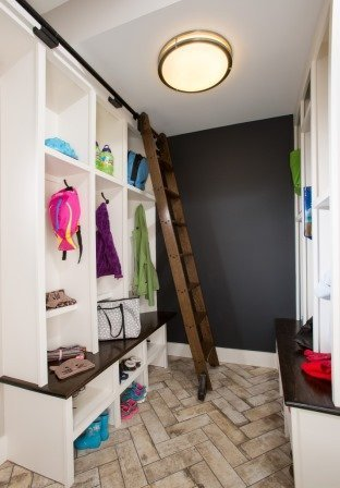 Falls Church, VA-Mud Room with Built-In Shelves