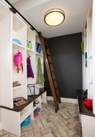 Falls Church, VA-Mud Room with Built-In Shelves