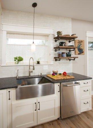 Falls Church, VA-Kitchen with Staineless Steel Sink