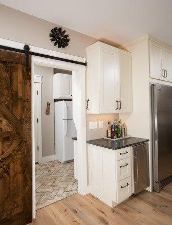 Falls Church, VA-Barn Door to Walk-In Kitchen Pantry and Bar