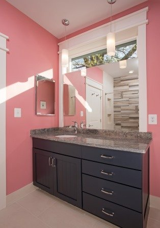 Falls Church, VA-Contemporary Children's Bathroom Vanity and Sink