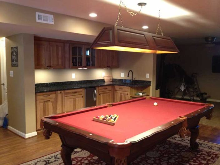 Basement for entertaining