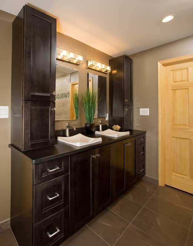 Dual sinks bath