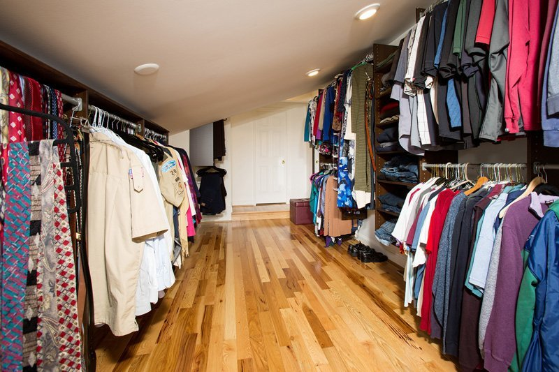 Herndon, VA-Closet Addition with Angled Roof