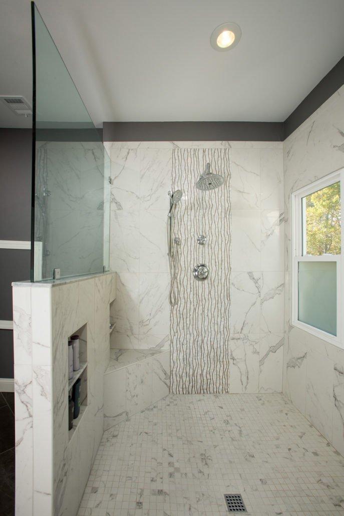 Springfield, VA-Master Bathroom with beautiful Tiles