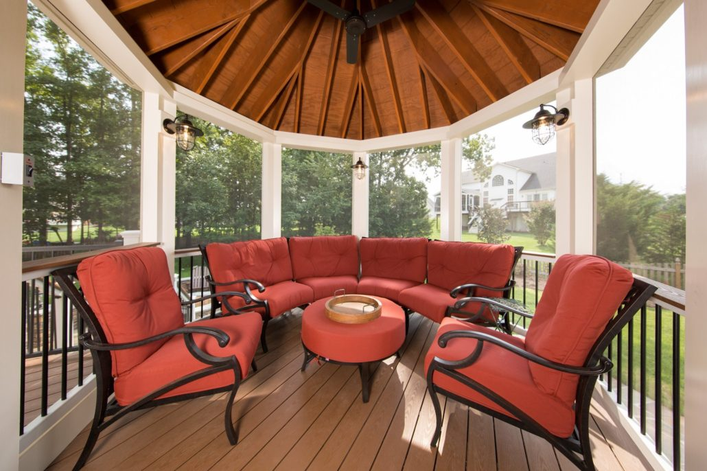 red patio furniture outdoor seating