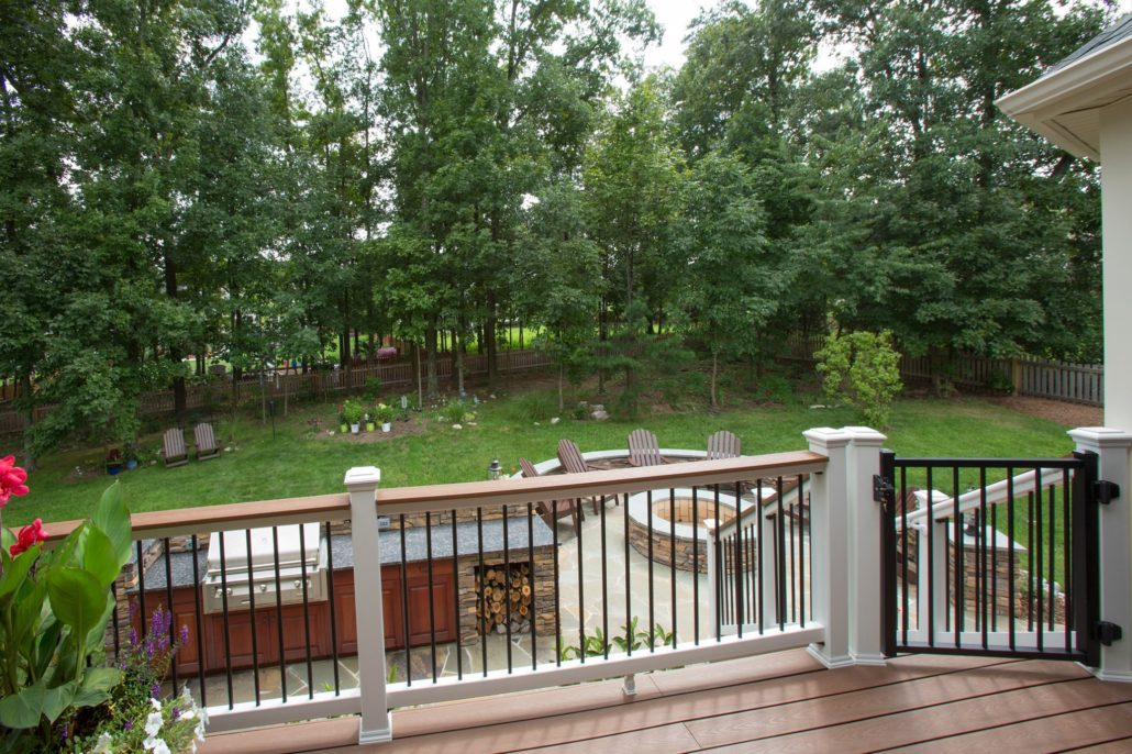 view of backyard from remodeled exterior space