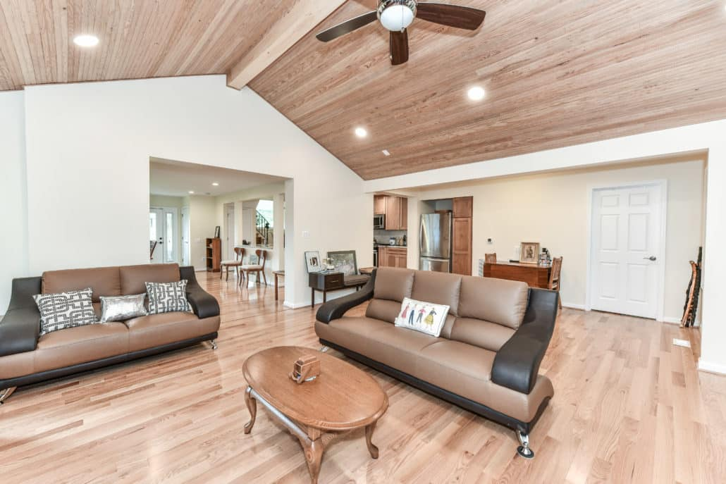 Open concept living area, whole home remodel