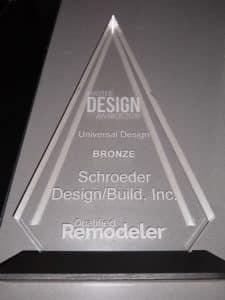 Master Design Award, Bronze, Schroeder Design/Build